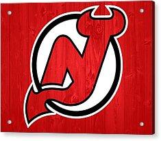 New Jersey Devils Barn Door Acrylic Print