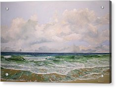 Acrylic Print featuring the painting New Jersey Surf by Ken Ahlering