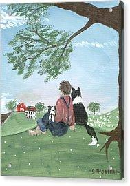 New Kid In Town Acrylic Print by Sue Ann Thornton