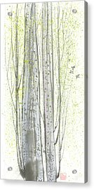 New Leaves Acrylic Print by Mui-Joo Wee