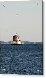 New London Lighthouse Acrylic Print by Gerald Mitchell