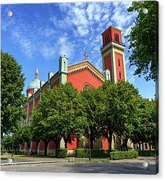 New Lutheran Church In Kezmarok, Slovakia Acrylic Print by Elenarts - Elena Duvernay photo