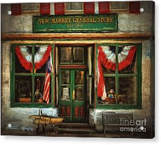 New Market General Store Acrylic Print by Lois Bryan