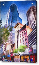 New Meets Old Acrylic Print by Marvin Spates