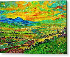 New Mexican Sunset Acrylic Print by Michael Durst