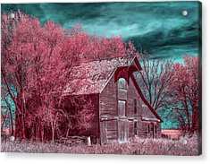 New Mexico Barn Infrared Acrylic Print by Paul Freidlund
