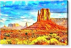 New Mexico Beautiful Desert - Pa Acrylic Print by Leonardo Digenio