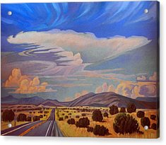 Acrylic Print featuring the painting New Mexico Cloud Patterns by Art James West
