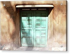 Acrylic Print featuring the photograph New Mexico Dreamy Rustic Door by Andrea Hazel Ihlefeld