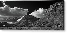 New Mexico Landscape B W Acrylic Print by Steve Gadomski