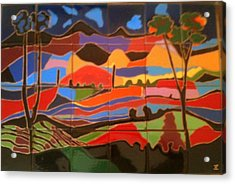 New Mexico Landscape Acrylic Print by Yana Yatsyk