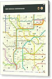 New Mexico Map Acrylic Print