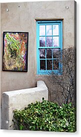 Acrylic Print featuring the photograph New Mexico Turquoise Window Landscape by Andrea Hazel Ihlefeld