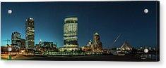 New Milwaukee Skyline Acrylic Print by Randy Scherkenbach