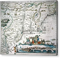 New Netherland Map Acrylic Print by Granger