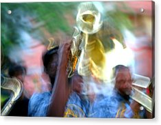 New Orleans Abstract Street Jazz Performance Acrylic Print