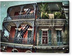 New Orleans Balconies No. 4 Acrylic Print by Tammy Wetzel
