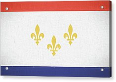 Acrylic Print featuring the digital art New Orleans City Flag by JC Findley