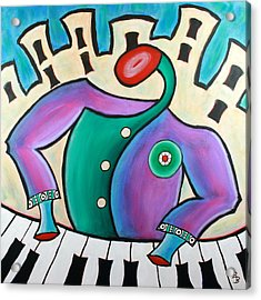 New Orleans Cool Jazz Piano Acrylic Print