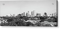 New Orleans Downtown Skyline Panorama - Bw Acrylic Print
