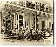 New Orleans Jazz 2 - Sepia Acrylic Print by Steve Harrington