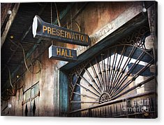 New Orleans Jazz Acrylic Print by Jeanne  Woods