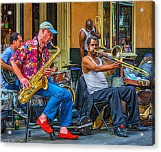 New Orleans Jazz - Paint Acrylic Print by Steve Harrington