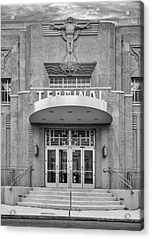 New Orleans Lakefront Airport Bw Acrylic Print