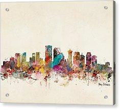 New Orleans Louisiana Skyline Acrylic Print