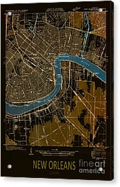 New Orleans Map 1932 Acrylic Print