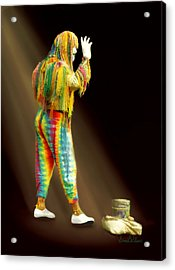 Acrylic Print featuring the painting New Orleans Mime by Sena Wilson