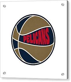 New Orleans Pelicans Retro Shirt Acrylic Print by Joe Hamilton