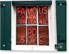 New Orleans Po Boys Acrylic Print by John Rizzuto