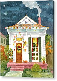 New Orleans Shotgun At Christmas Acrylic Print by Joyce Hensley