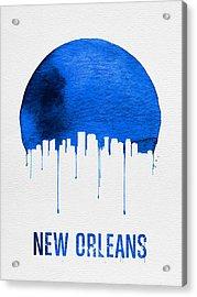 New Orleans Skyline Blue Acrylic Print