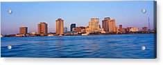 New Orleans Skyline From Algiers Point Acrylic Print by Panoramic Images