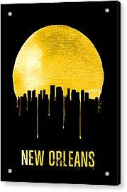 New Orleans Skyline Yellow Acrylic Print by Naxart Studio