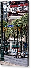 New Orleans Streetcars Triptych 1 Acrylic Print by Andy Crawford