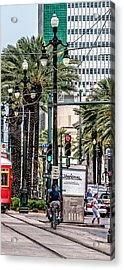 New Orleans Streetcars Triptych 2 Acrylic Print