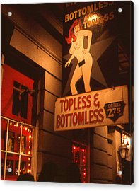 New Orleans Topless Bottomless Sexy Acrylic Print