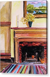 New Painting Over The Mantel Acrylic Print by John Williams