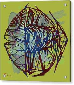 New Pop Art  -  Tropical Fish Poster Acrylic Print by Kim Wang