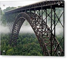 New River Gorge Bridge West Virginia Acrylic Print by Brendan Reals