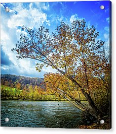 New River In Fall Acrylic Print