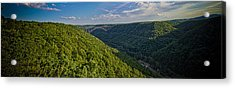 New River Panoramic Acrylic Print