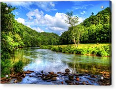 New River Summer Acrylic Print by Dale R Carlson