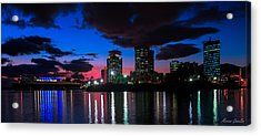 New Sky Line  Acrylic Print by Marcus Gonzales