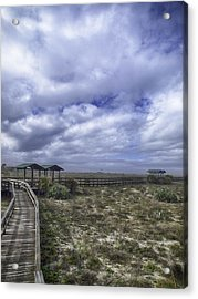 New Smyrna Beach Dunes Acrylic Print by Rob Wilson