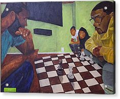 A Game Of Chess Acrylic Print