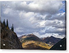 Peeking At The Peaks Acrylic Print